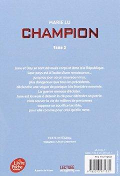 Livres Couvertures de Legend - Tome 3 - Champion