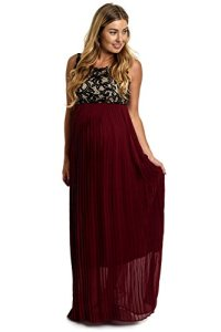 PinkBlush-Maternity-Pleated-Chiffon-Lace-Top-Maxi-Dress