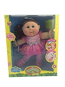 amazon com cabbage patch kids girl doll 14 quot caucasian brown hair with