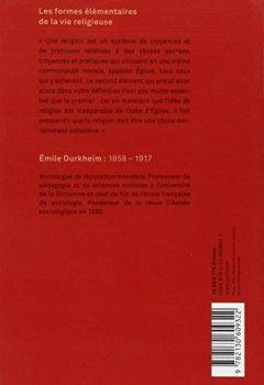 Livres Couvertures de Les formes élémentaires de la vie religieuse