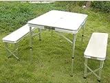 アルミ テーブル キャンプ  ピクニックテーブル レジャーテーブル 折りたたみテーブル  ベンチセット アウトドア ガーデンテーブル バーベキュー テーブルセット BBQ  bbq