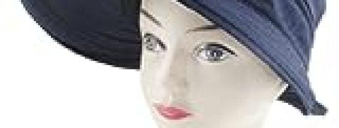 Allegra K Lady Loop Fastener Strap Bowknot Detail Poke Bonnet Lierihattu Hat Navy Blue
