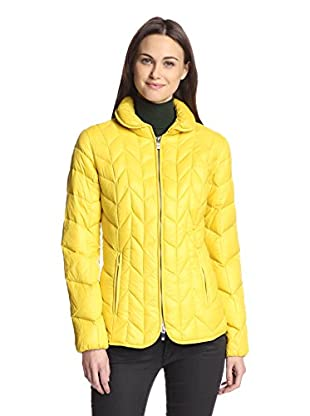 Via Spiga Women's Packable Down Jacket (Chartreuse)