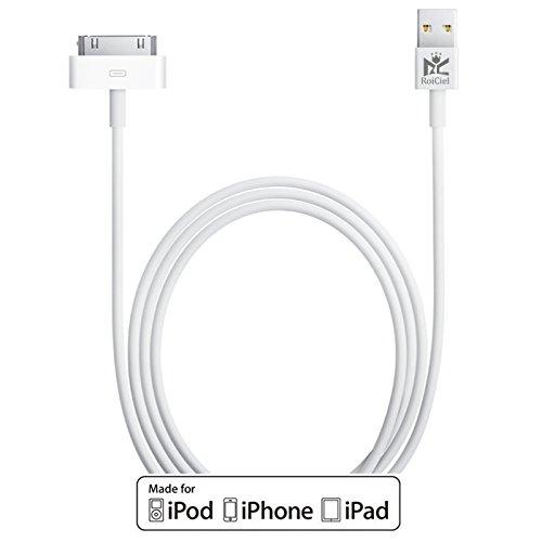 RoiCiel Apple認証 プレミアム USB DOCKケーブル 充電・通信用 ホワイト 1m