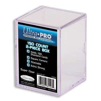 Ultra Pro 2-Piece 150 Count Clear Card Storage Box
