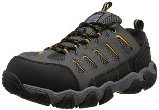 Skechers for Work Men's Blais Hiking Shoe, Dark Gray, 12 M US