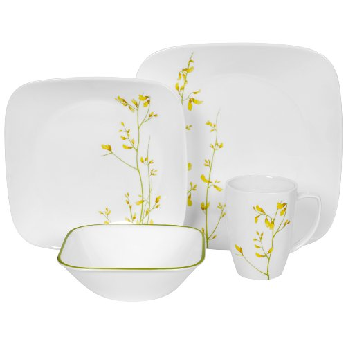 Corelle Kobe Square 16-Piece Dinnerware Set, Service of 4