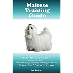 Maltese Training Guide Maltese Training Book Includes: Maltese Socializing, Housetraining, Obedience Training, Behavioral Training, Cues & Commands and More