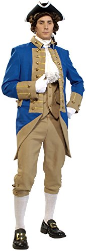 Men's mens Grand Heritage George Washington Costume,Multi,Standard