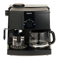 KRUPS XP1500 Coffee Maker and Espresso Machine Combination Black