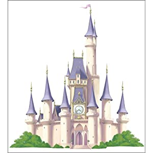 Princess Castle Self-Stick Mini Wall Mural 36-Inch x 40-Inch
