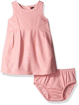 Nautica-Baby-Girls-Embossed-Woven-Pique-Dress