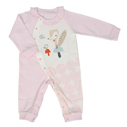 Cutebaby-CuteSprout-Baby-Both-Sided-Cotton-Romper-6-9M-Pink