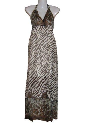 langes Kleid Sommerkleid Strandkleid Zebra-Look bb Gr. M