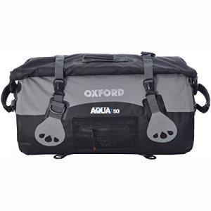 Oxford-Aqua-T50-bagage-impermable-pour-moto-Noirgris-50-l