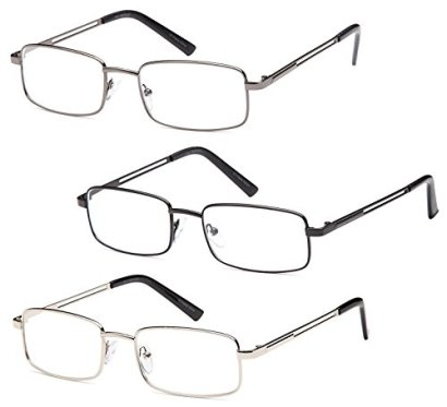 GAMMA-RAY-3-Pairs-of-Stainless-Steel-Metal-Readers-Choose-Your-Magnification