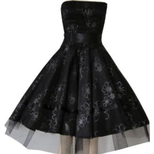 Pretty Kitty Fashion Elegant Hochzeit Hübschen Schwarz Blume Kleid