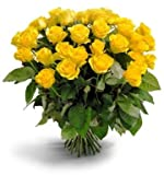"100 Fresh Yellow Roses | 50 cm. long (20"") Free shipping"