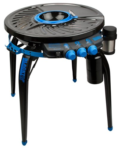 Blacktop 360 HFI Premium Party Hub Grill/Fryer, Black/Blue