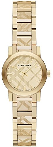 s swiss gold ion-plated stainless steel bracelet watch 26mm bu9234,burberry women,video review,(VIDEO Review) Burberry Women's Swiss Gold Ion-Plated Stainless Steel Bracelet Watch 26mm BU9234,