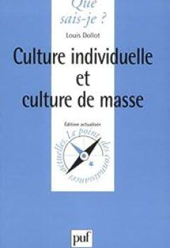 Livres Couvertures de Culture Individuelle Et Culture De Masse