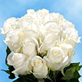 50 Stems of White, Valentine's Day Roses that are as elegant as they are classic!