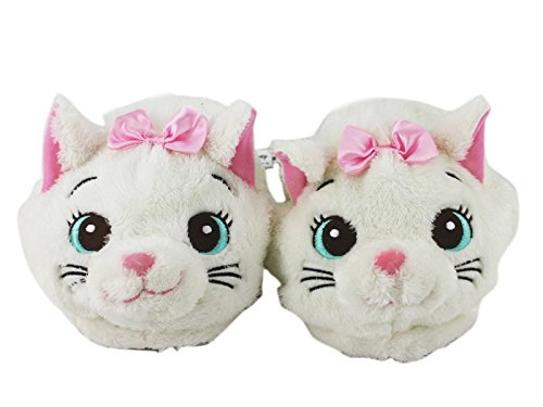 Disney's Aristocats Marie the Cat White Colored Furry Slippers