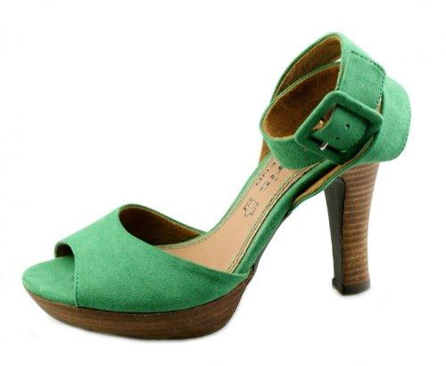 Tamaris TREND 1/1-28317-28 Damen Sommer Plateau Stiletto Sandalette Sandale Green Grün