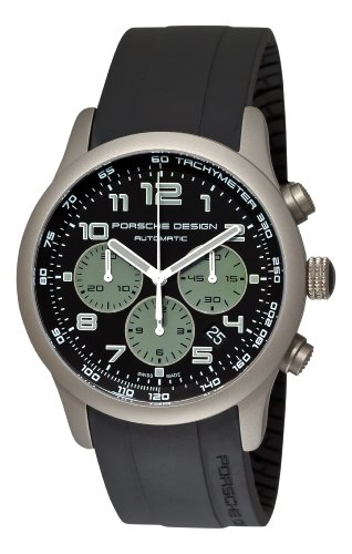 Porsche Design Men's 6612.10.48.1139 Dashboard P'6612 Titanium Black and Green Dial Watch