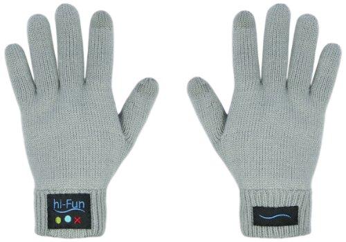 hi-call ブルートゥース トーキンググローブ (メンズ/グレー) 【イタリア発の魔法の手袋!気分はエスパー!電話のジェスチャーで本当に通話できる手袋】