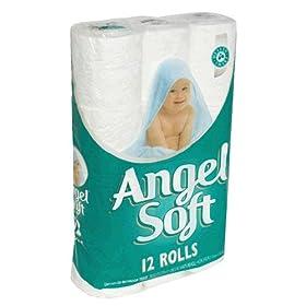 Angel Soft Bathroom Tissue, 2-Ply, Unscented, 12 rolls