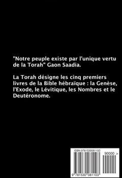 Livres Couvertures de La Torah (Les cinq premiers livres de la Bible hébraïque)