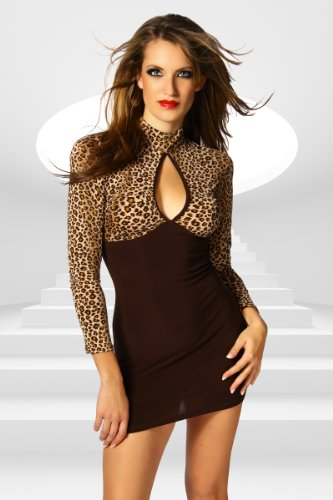 LH-Dessous 12224 Größe L-XL. Kleid im Leo-Look! Es ist sehr elastisch .Der Kragen wird im Nacken mit zwei Knöpfen geschlossen