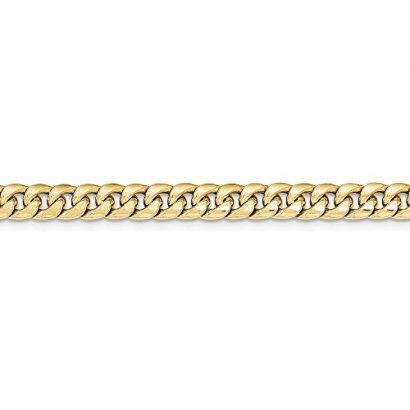 14K-Yellow-Gold-Hollow-Miami-Cuban-Chain-Bracelet