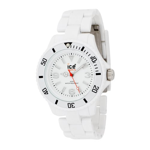 Ice-Watch Unisex-Armbanduhr Medium Big Classic Solid Weiss CL.WE.U.P.09