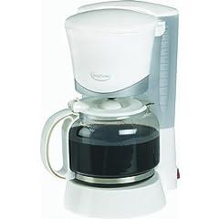 Betty Crocker Appliances BC-1734U 12 Cup White Coffeemaker