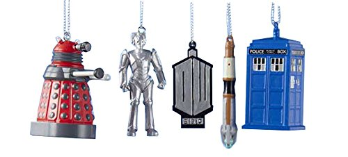 doctor who christmas ornament set