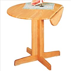 Coaster Damen Small Round Dining Table in Natural Finish