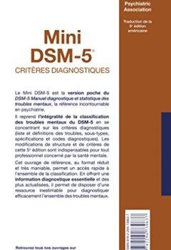 Book's Cover ofMini DSM-5 Critères Diagnostiques