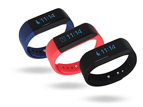 LUCOG-I5-Plus-Water-resistant-Bluetooth-Fitness-Tracker-with-Soft-Silicone-Wristband-for-Sports-Activity-Personal-Health-Care-Sleep-Monitor-Black-Red-Blue-Pack-sale-Version-20-30-Available