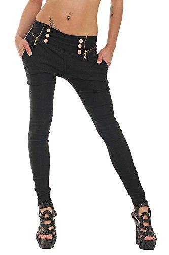 10037-Fashion4Young-Damen-Treggings-Hose-aus-elastischem-Stretch-Material-verfgbar-in-5-Gren-3-Farben