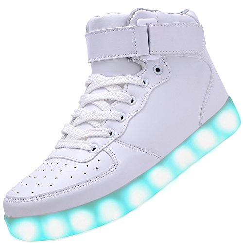 Odema Women High Top USB Charging LED Shoes Flashing Sneakers For Christmas