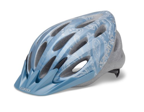 Giro Women's Skyla Cycling Helmet (Ice Blue/White Flower Sketch)