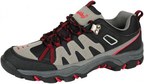 ConWay Damen Herren Trekking Wander Walking und Outdoor Schuh grau/schwarz (03-5055) Groesse-40