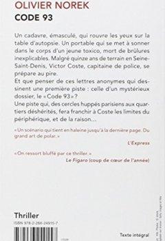 Telecharger Code 93 Pdf Ebook Olivier Norek Dashboard Book Pdf