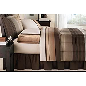 Amazon Com Brown Black Tan Grey Stripe Plaid Ombre
