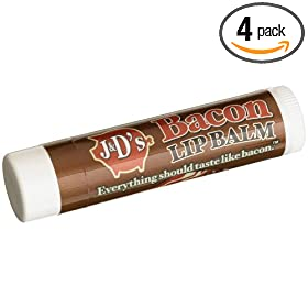 J&D's Bacon Flavored Lip Balm, 4.5-Gram Sticks (Pack of 4)