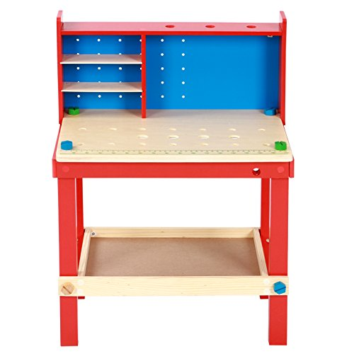 419foTDheWL - BEST BUY #1 Infantastic Children's Work Bench with Tools Play Set Kids Toy Workshop Accessories Reviews and price