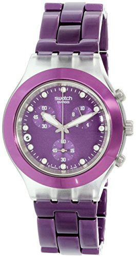 swatch full blooded blueberry unisex watch svck4048ag,video review,(VIDEO Review) Swatch Full Blooded Blueberry Unisex Watch SVCK4048AG,