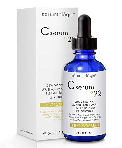 Vitamin C serum 22 by serumtologie® Anti Aging Moisturizer – 1.15 oz